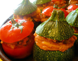 Petits Farcis - Provençe Stuffed Baked Vegetables. Photo by French Tart