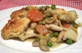 Chicken Pot Pie with Buttermilk Biscuit Crust. Photo by Derf