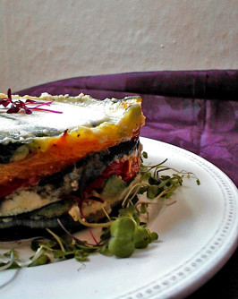 Ina Garten's Roasted Vegetable Torte (Barefoot Contessa). Photo by Black Radish