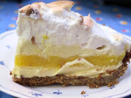 Lemon Meringue Ice Cream Pie. Photo by MathMom.calif