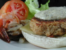 Nutty for New England Naughty but Nice Crab Burger. Photo by Chef floWer