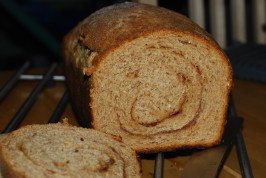 Rustic Wheat Cinnamon Raisin Bread. Photo by Katzen