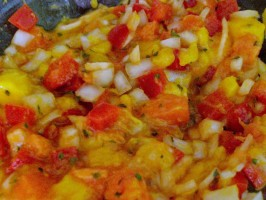 Exotic Ya' Make a Jamaica Jerk Shrimp With Mango Papaya Salsa. Photo by tomsawyer