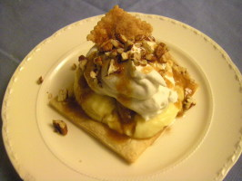 Deconstructed Banana Cream Pie &  Bananas Foster Variation. Photo by momaphet