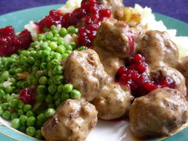 Swedish Meatballs With Lingonberry  or Cranberry  Sauce. Photo by kiwidutch
