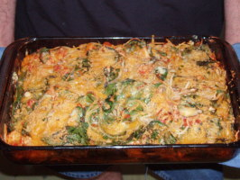 Baked Spaghetti With Chicken and Spinach. Photo by Patti C