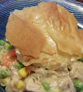 Chicken and Veggie Pie With Phyllo Top. Photo by Baby Kato