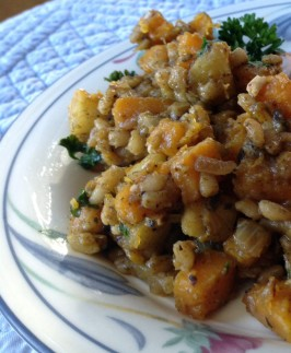 Weight Watchers Barley With Butternut Squash, Apples and Onions. Photo by WiGal