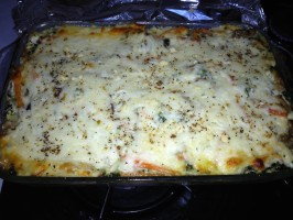 Irresistible & Healthy Vegetarian Lasagna W/ Cream Sauce!. Photo by Actsofswine