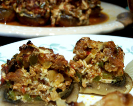 Delish Stuffed Mushrooms - Gluten / Egg Free. Photo by Rita~