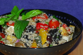 Minted Couscous With Roasted Vegetables. Photo by Katzen