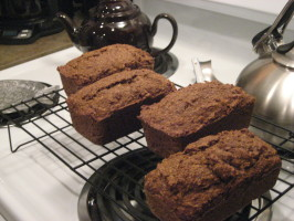 Aryn's Practically Vegan Pumpkin Bread. Photo by free-free
