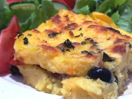 Baked Stuffed Polenta (Polenta Al Forno). Photo by **Jubes**