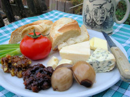Traditional English Pub Style Ploughman's Lunch. Photo by French Tart