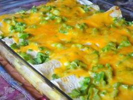 Make-Ahead Sausage and Egg Brunch Enchiladas. Photo by Lori Mama