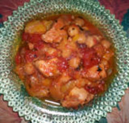 Preserved Lemon Chicken Tagine for the Tagine!. Photo by Debbwl