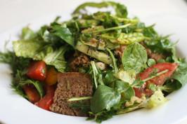 Middle Eastern Lebanese Fattoush Bread Salad. Photo by spacekadet