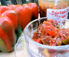 Spiced  Ruby and Emerald Indian Pepper Relish - Chutney. Photo by French Tart