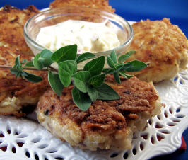 Fish Cakes With Herbed Sauce (German). Photo by PaulaG