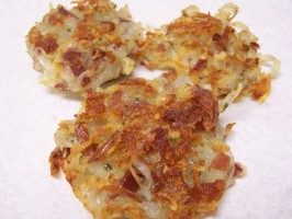 Potato Pancakes W/Katenspeck and Cheese (German). Photo by alligirl
