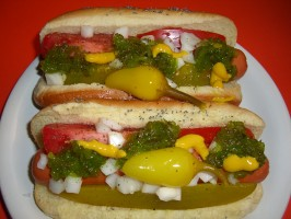 Chicago-Style Hot Dogs. Photo by Chef*Lee