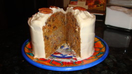 Carrot Cake With Pecan Cream Filling and Cream Cheese Icing. Photo by Tarheel