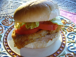 Don't Want to Go to Town Fish Sandwich Longmeadow Farm. Photo by cookiedog