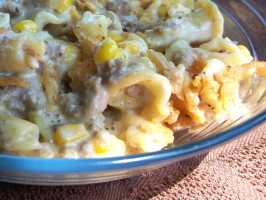 Cheese Burger Alfredo Casserole. Photo by Marsha D.