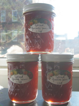 Spiced Quince Jam. Photo by xtine