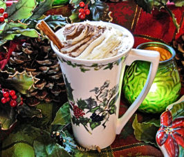 Après-Ski Holiday Hot Chocolate With  Brandy and Cream. Photo by French Tart