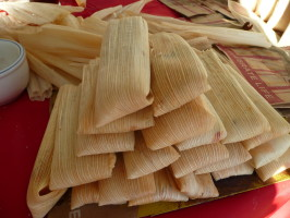 Tamales De Pollo Con Chile Verde- Green Chile Chicken Tamales. Photo by cookiedog
