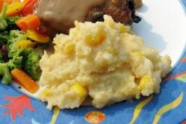Mashed Potatoes With Corn & Cheese. Photo by lazyme