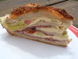 Mom's Sit Sandwich (Aka Squishy Sorta Muffuletta). Photo by Evie*