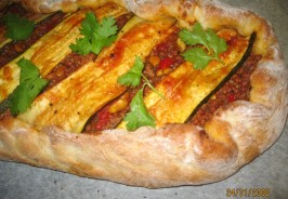 Moroccan Lamb and Zucchini Pide. Photo by Brittney_B