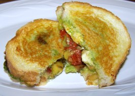 Chicken Pesto Grilled Sandwiches/Paninis-Original & Lighter. Photo by Sweet Diva