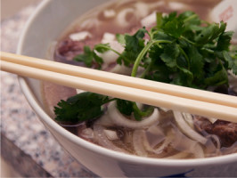 Vietnamese beef and rice noodle soup (pho). Photo by Jennemede
