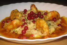 Moroccan Prawns With Couscous. Photo by The Flying Chef