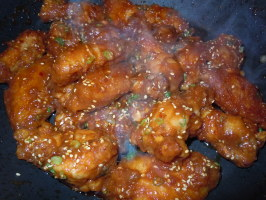 Korean Spicy Chicken Wings - Restaurant Recipe!. Photo by Marney