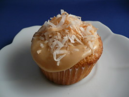 Tres Leches Coconut Cupcakes With Dulce De Leche Buttercream. Photo by cookiedog
