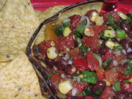 Bek's Black Bean Salsa/Pico De Gallo. Photo by TeresaS