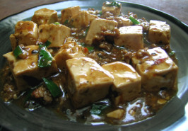 Iron Chef Chinese - Chef Chen's Mapo Tofu. Photo by Rinshinomori