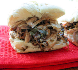 Porchetta - Italian Marketplace Slow Roast Pulled Pork Sandwich. Photo by French Tart