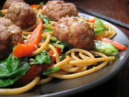 My Version of Rachael Ray's Chinese Spaghetti and Meatballs. Photo by ms_bold