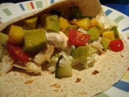 Fish Tacos With Mango Salsa. Photo by Starrynews