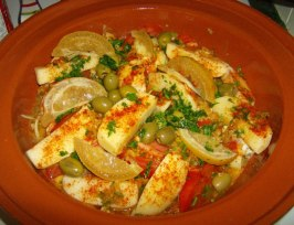 Chicken Tajine With Preserved Lemon and Olives. Photo by Nasseh