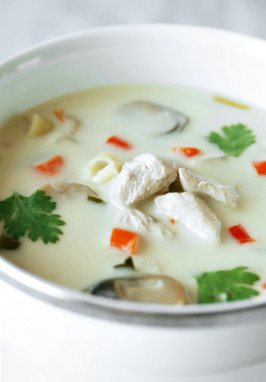 Tom Ka Kai (Thai Coconut Chicken Soup). Photo by Aaliyah's&Aaron'sMum