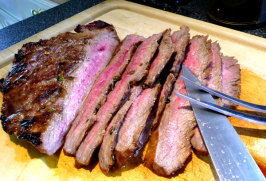 Kittencal's Marinated Grilled Flank Steak. Photo by Mikekey