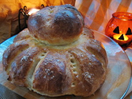 Traditional Cottage Loaf -  Old Fashioned Rustic English Bread. Photo by Annacia