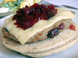 Build Your Own Canadian Cranberry and Herb Turkey Burgers!. Photo by Lori Mama