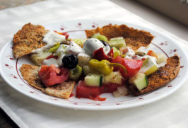 Greek Fit-For-The-Gods Salad With Spicy Cucumber Dressing. Photo by Andi of Longmeadow Farm